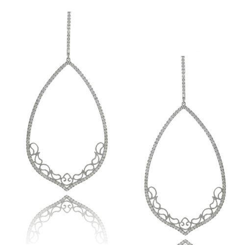 , 1.21cttw Chandelier Diamond Earrings