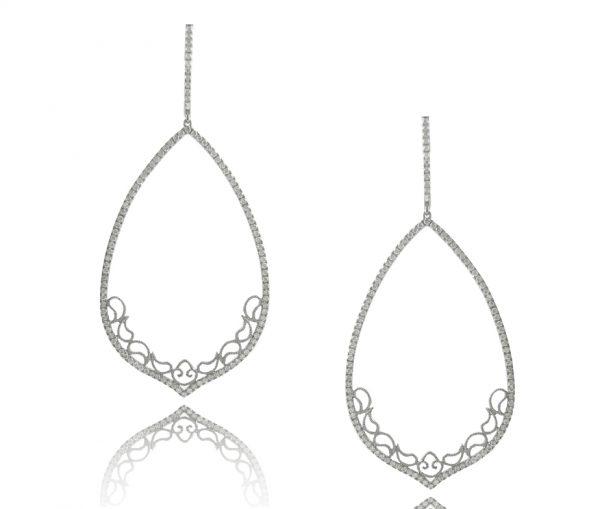 , 1.21cttw Chandelier Diamond Earrings