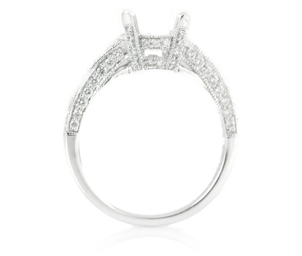 , 0.77CTTW Platinum Engagement Mounting