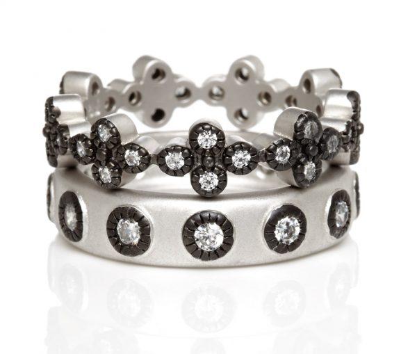 , Freida Rothman – Mixed Clover set of 2 Rings