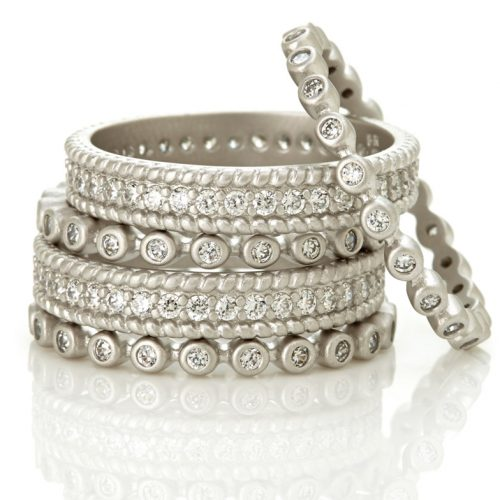 , Freida Rothman – Mixed Clover set of 2 Rings