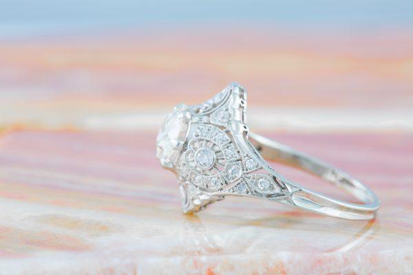 Edwardian Diamond Ring in Platinum, Edwardian Diamond Ring in Platinum