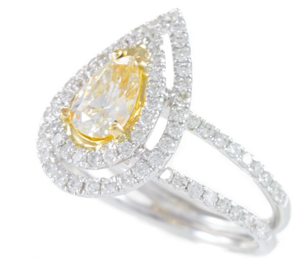 , 1.56cttw Diamond Pear Ring in 18K