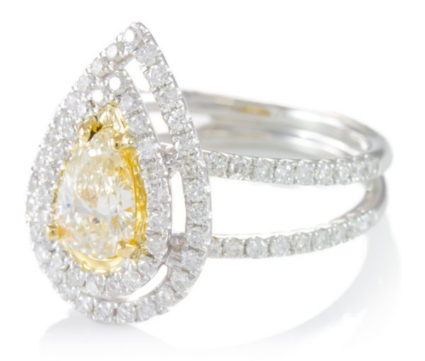 , 1.56cttw Diamond Pear Ring in 18K