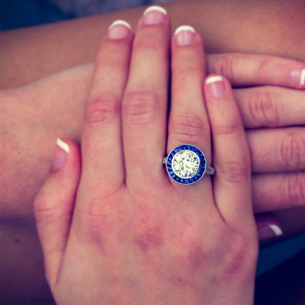 , 3.77cttw Diamond Engagement Ring in Platinum