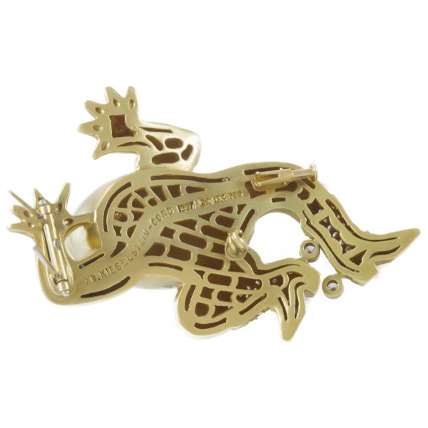 , Diamond Gold Frog Brooch