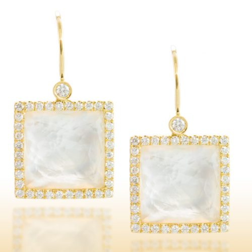 , Yellow Gold Marquise Dangle Earrings