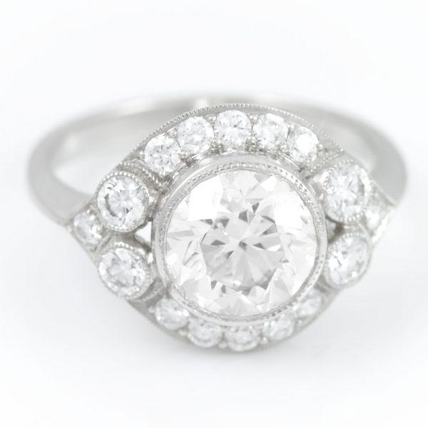 , Diamond Ring with Halo