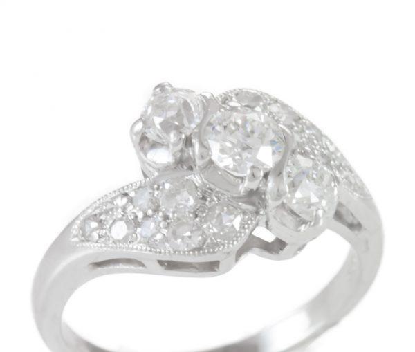 , Art Deco Platinum Ring