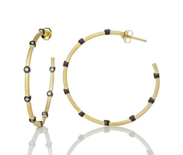 , Freida Rothman – Thin Bezel Hoop Earrings