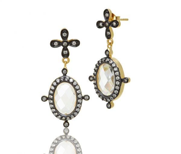 , Freida Rothman – Two Tone Mirror Mirror Earrings