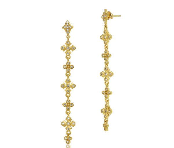 , Freida Rothman – Maltese Drop Linear Earrings