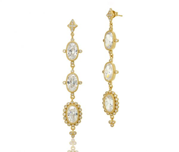 , Freida Rothman – Ceremony Triple Drop Earrings