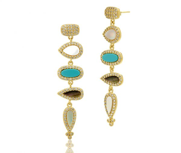 , Freida Rothman – Multi four Drop Earrings