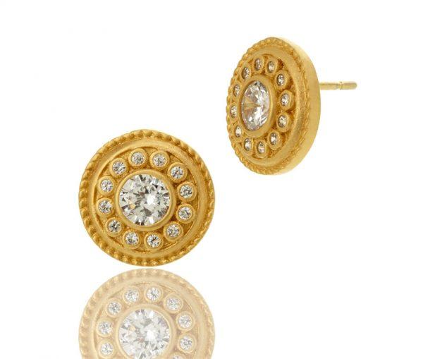 , Freida Rothman – Nautical Button Stud Earrings