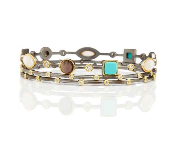 , Freida Rothman – Set of Three Stack Bangles