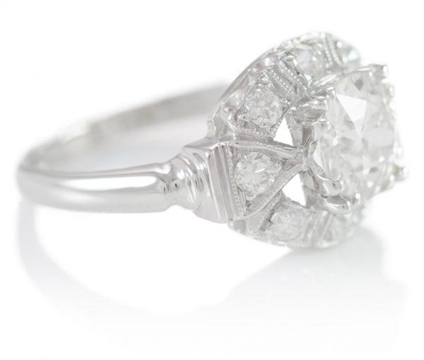 , 1.77CTTW Diamond Engagement Ring in Platinum