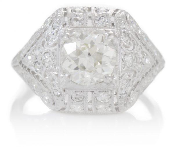 , 1.64cttw Diamond Ring in Platinum