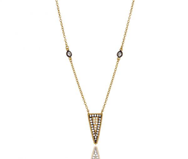 , Freida Rothman – Pave Slice Pendant Necklace
