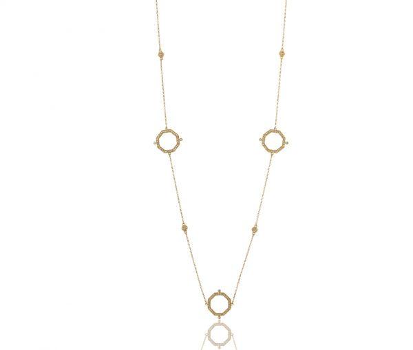 , Freida Rothman – Pave Open Geometric Wrap Necklace