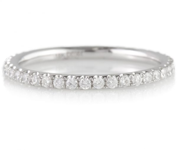 , 0.44 carat Diamond Eternity Band in 18K White Gold