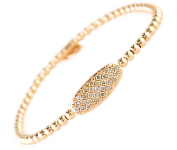 , Champagne Diamond Bracelet in Rose Gold 18K