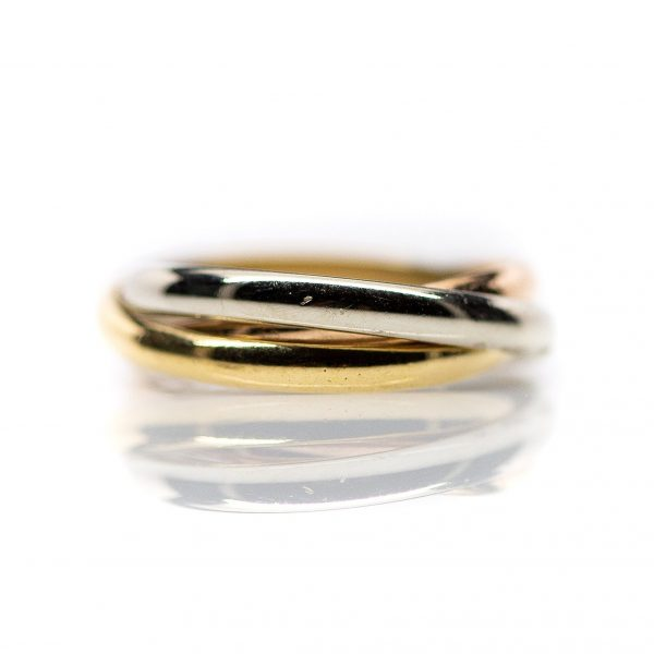 , 14kt Tri-Tone Rolling Ring