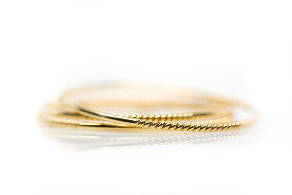 , Vintage 18kt Yellow Gold Bangle Bracelet