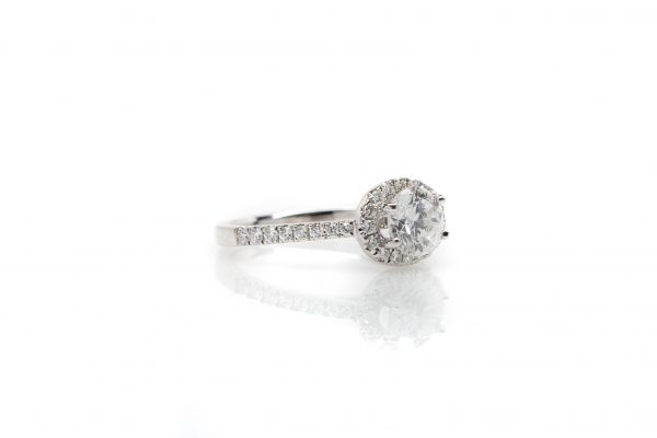, 1.08 Round Brilliant Engagement Ring
