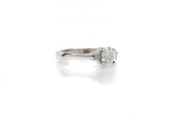 , 0.74ct Oval Engagement Ring