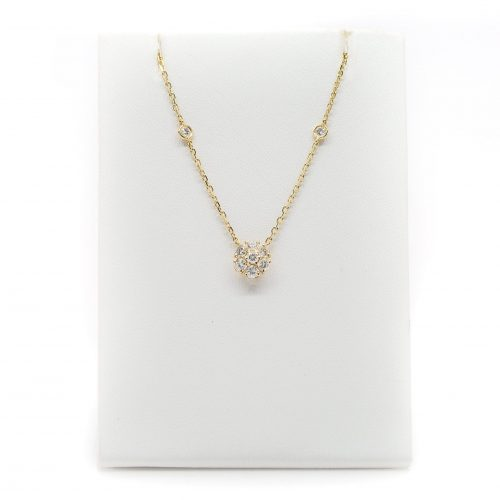 , 18K Rose Gold Pendant with Diamonds and WT