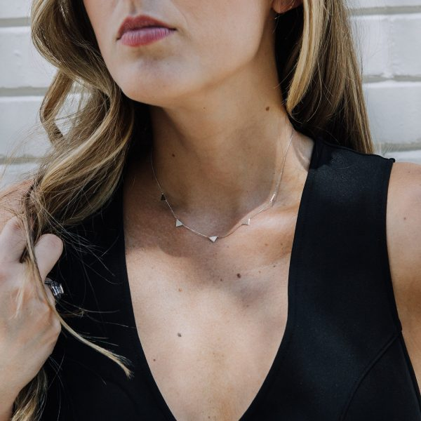 , 16″ Mini Triangle Layering Necklace