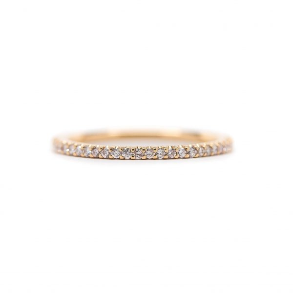 , Stackable Pink Diamond Eternity Band