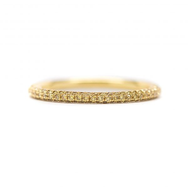 , Pave Yellow Diamond Eternity Band
