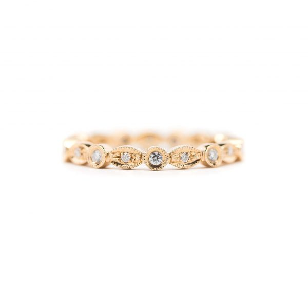 , Diamond Stackable Band; Marquise and Round Alternating Shapes