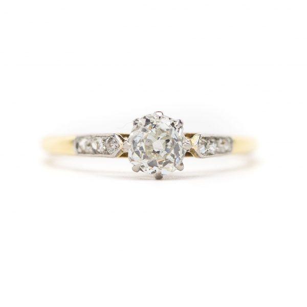, Antique 0.50ct Diamond Engagement Ring