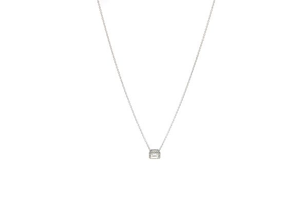 , 18kt White Gold Diamond Pendant Necklace