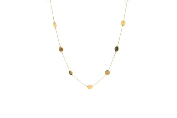 , 14kt Yellow Gold Circle Choker