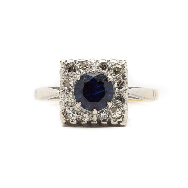 , 1800's Edwardian Unheated Sapphire Ring