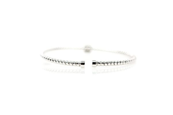 , 18kt White Gold and Diamond Bangle