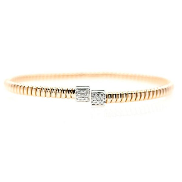 , Two Tone Diamond Bangle