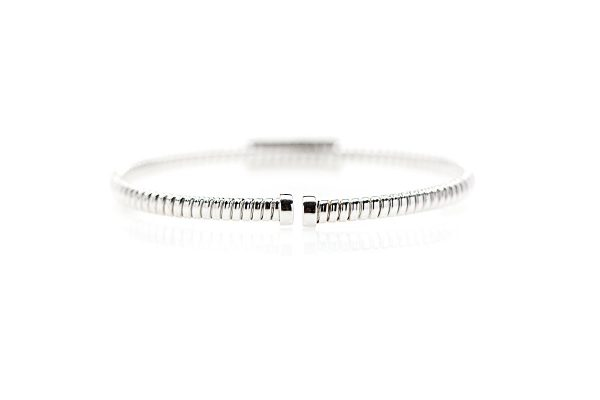 , 18kt White Gold Diamond Bangle