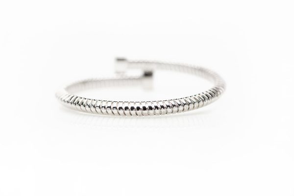 , 18kt White Gold Diamond Bangle – 0.49ctw diamond