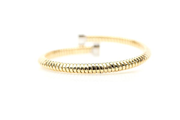 , Two Tone Diamond Bangle – 0.51ctw diamond