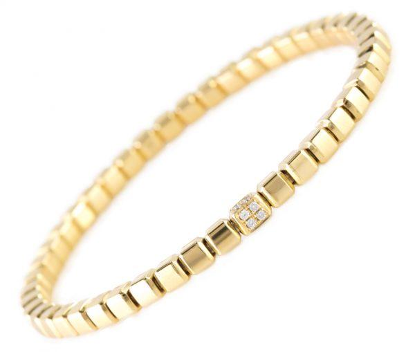 , Diamond Box Bracelet in 18K Yellow Gold
