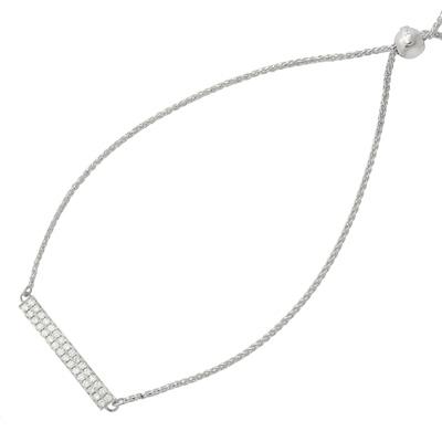 , Diamond Bar Bracelet in 14K White Gold