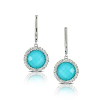 , St. Barths Blue Drop Earrings in 18K White Gold