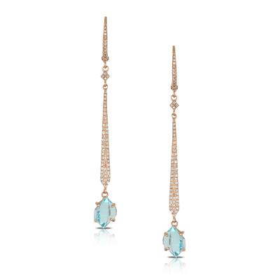 , Ocean Mist Diamond Drop Earrings 18K Rose Gold