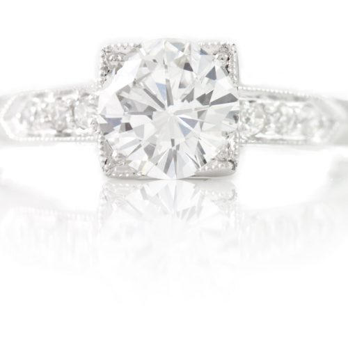 , 0.825 Euro Cut Engagement Ring