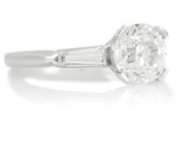 , 1.58CTTW Platinum Engagement Ring